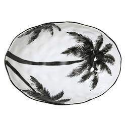 HKliving Jungle' Servierschale mit Palmblättern Schwarzweiß 28 cm