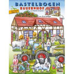 Bauernhof Bastelbogen