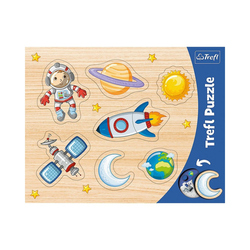 Trefl Puzzle Konturenpuzzle - Weltall, 7 Teile, Puzzleteile
