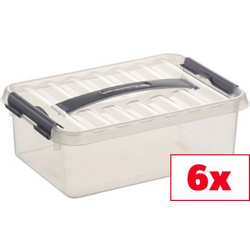 Helit Aufbewahrungsbox Sunware Q-line Transparent 4l (B x H x T) 200 x 100 x 300mm 6St.
