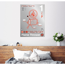 Posterlounge Wandbild, Flammenwerfer 60 cm x 80 cm
