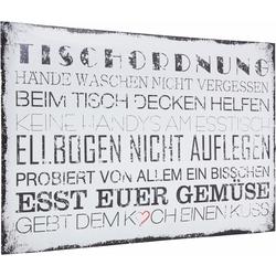 Home affaire Poster Tischordnung, in 2 Größen 90 cm x 60 cm