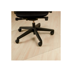 relaxdays Bodenschutzmatte Bodenschutzmatte Bürostuhl transparent 75 cm x 120 cm x 0.17 cm