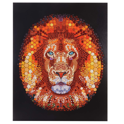 Ölgemälde Löwe, 100% handgemaltes Wandbild Gemälde XL, 100x80cm