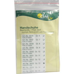 Handschuhe Baumwolle Größe 13