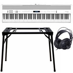 Roland FP-60X Weiß + Keyboard-ständer (DPS-10) & Kopfhörer