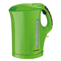 Wasserkocher in grün mit herausnehmbarem Kalkfilter