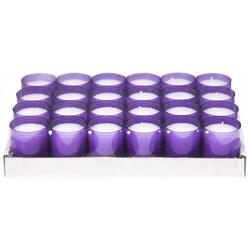 Refill Kerzen / Teelichteinsatz in Lila, Ø50x65 mm, 24 Stück - Brenndauer ca. 24 Std.