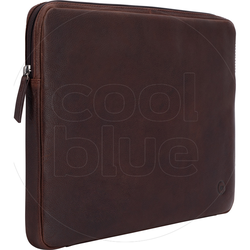 BlueBuilt 15-Zoll-Laptophülle Breite 35 cm - 36 cm Leder Braun