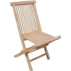 2x Garten Stühle Klapp-Stuhl Veranda Teak Terrasse braun Höhe 89 cm