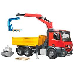 bruder    Mercedes-Benz Arocs Baustellen-LKW mit Kran Spielzeugauto
