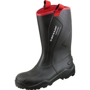 Dunlop Protective Footwear Purofort Rugged full safety Unisex-Erwachsene Gummistiefel, Schwarz 44 EU