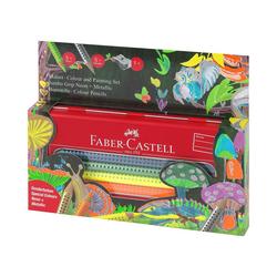 Faber-Castell Buntstift Buntstifte JUMBO GRIP Metalletui Metallic/Neon, 10