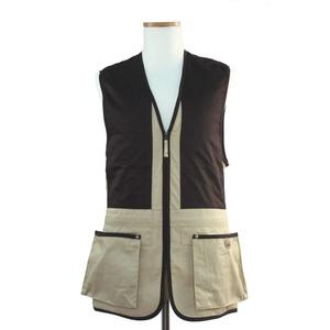 Beretta Universal Trap Cotton Schießweste, Mehrfarbig (beige/Braun), Gr. XL