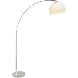 Brilliant Vessa 92940/75 Stehlampe Halogen E27 60W Chrom, Weiß