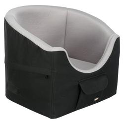 Autositz für kleine Hunde bis 8 kg, 45 × 39 × 42  cm, schwarz/grau, belastbar bis 8 kg