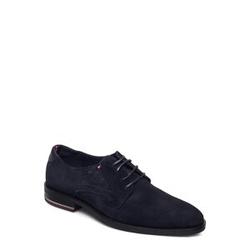Tommy Hilfiger Signature Hilfiger Suede Shoe Shoes Business Laced Shoes Blau TOMMY HILFIGER Blau 43,42,40,45,41,44,46