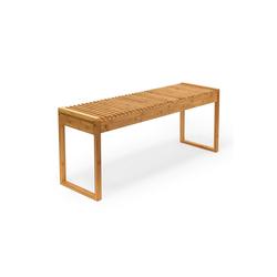 relaxdays Sitzbank Sitzbank aus Bambus