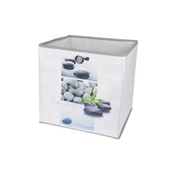 dynamic24 Aufbewahrungsbox, Motiv Textil Faltbox 31cm Equilibre Aufbewahrung Box Faltkiste Textil-Box
