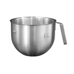 Edelstahlschüssel aus Edelstahl, 6,9 Liter, Rundschüssel für KitchenAid Küchenmaschine, 6,9 Liter, Farbe: silber