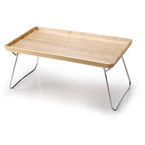CONTINENTA Bett-Tablett Couch-Tablett aus Gummibaumholz natur 53 x 32 x 7 cm