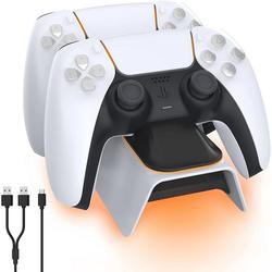 IVSO PS5 Controller Ladestation, PS5 Ladestation 2 Std Schnelllade mit Netzteil für Playstation 5 Ladestation Controller-Ladestation