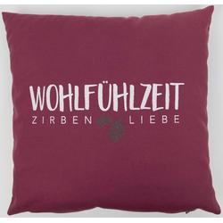 herbalind Zirbenkissen, 1-tlg., 40x40 cm rot