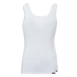 Skiny Unterhemd Damen Tank Top, 2er Pack - Unterhemd, ärmellos, weiß XL