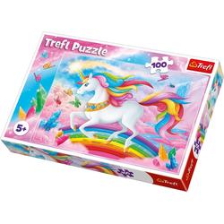 Trefl Puzzle Puzzle 100 Teile Unicorns, Puzzleteile