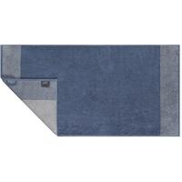 CAWÖ Handtuch Two-Tone in nachtblau, 50 x 100 cm