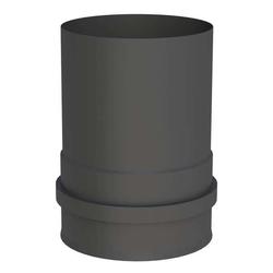 Ø 100 mm Pelletofenrohr Ofenanschlussstück mit Muffe Schwarz
