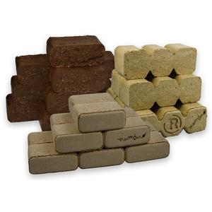 mumba - Probierset insgesamt 30kg Holzbriketts (10kg Rindenbriketts eckig, 10 kg TRIPLEX Holzbriketts und 10kg Buchenbriketts eckig)