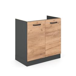Vicco Spülenschrank Küchenschrank Unterschrank Spülenunterschrank 80 cm R-Line Anthrazit