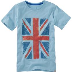T-Shirt Flagge, blau, Gr. 164/170 - 164/170 - blau