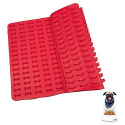 kueatily Backmatte Silikon-Backmatte Herzförmige Silikonmatte für Hundekekse rot