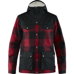 Fjällräven - Greenland Re-Wool Jacket M Red-Black - Jacken - Größe: S