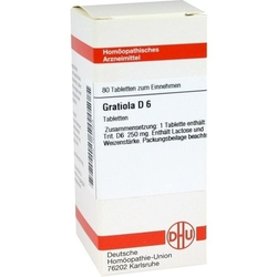 GRATIOLA D 6 Tabletten 80 St