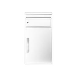 SafePost Briefkasten Paketbriefkasten Safepost ScanPro 65M in weiß RAL 9010 Safepost