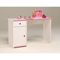 Parisot Schreibtisch Kiefer-Dekor weiß mit drehbaren Kanten