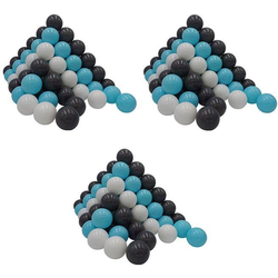 Knorrtoys® Bällebad-Bälle 300 Stück, creme/grey/blue