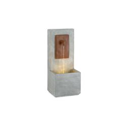 blumfeldt Gartenbrunnen Milos Brunnen LED drinnen und draußen 5 m Kabel Zement, 37 cm Breite