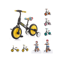 Chipolino Laufrad Dreirad, Laufrad 2 in 1 Max Bike 10 Zoll (25,40 cm) Zoll, 10 Zoll Räder, Pedale, Stützräder gelb