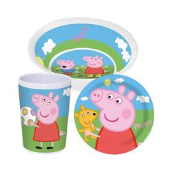 p:os Kindergeschirr-Set Kindergeschirr Melamin Disney Die Eiskönigin, rosa