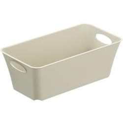 Rotho LIVING Box, 2 Liter, Aufbewahrungsbox, Maße: 252 x 134 x 90 mm, Farbe: cappuccino