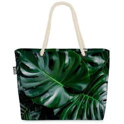 VOID Strandtasche (1-tlg), Palmenblätter Farnkraut Palmenblätter Farnkraut Blätter Palmen Pflanz