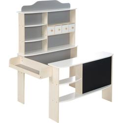 roba® Kaufladen Verkaufsstand weiß/grau