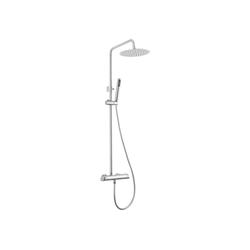 Deante Duscharmatur ARNIKA-30 Duschsystem mit Regendusche chrom mit Mischarmatur