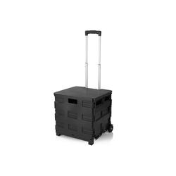 EASYmaxx Einkaufstrolley, faltbar schwarz