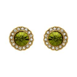 Ohrstecker mit grünem Stein gold Modeschmuck