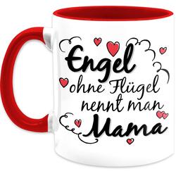 Shirtracer Tasse Engel ohne Flügel nennt man Mama Tasse - Muttertagsgeschenk Tasse - Tasse zweifarbig, Keramik